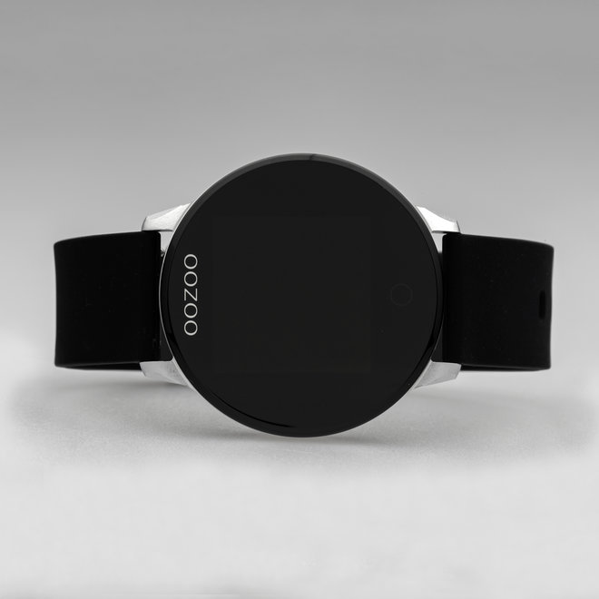 OOZOO Smartwatches - unisex - rubber strap black with silver