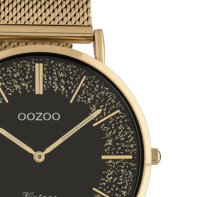 OOZOO Vintage - Ladies - metal mesh strap rose gold met rose gold