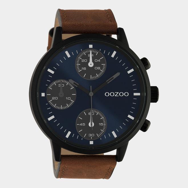 OOZOO Timepieces - hommes - bracelet en cuir marron