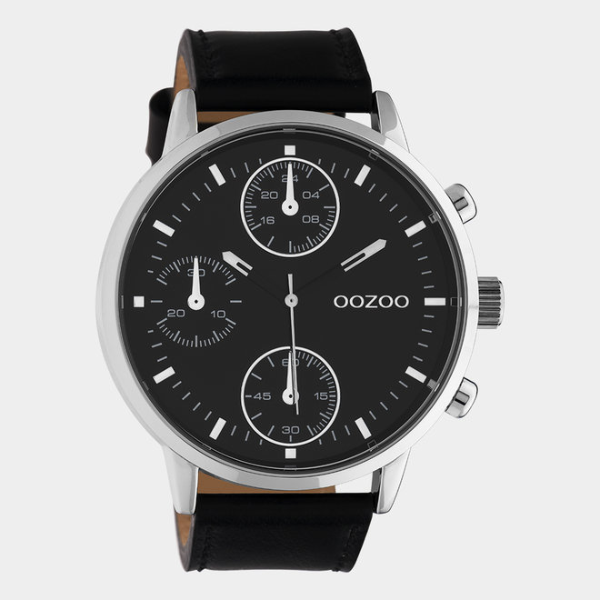 OOZOO Timepieces - gents - leather strap black