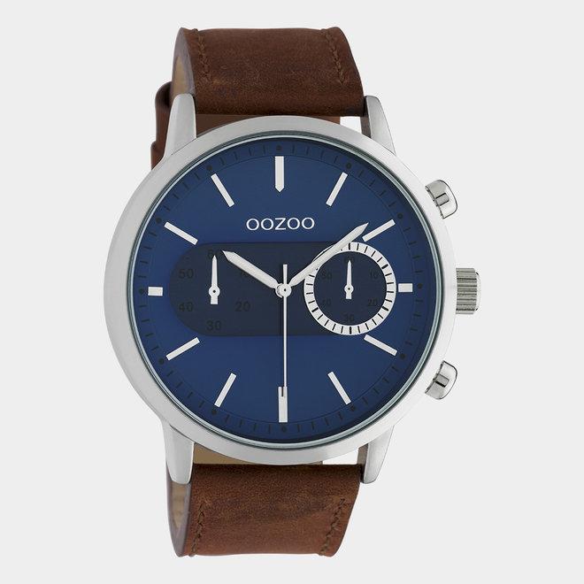 OOZOO Timepieces - unisexe - bracelet en cuir marron