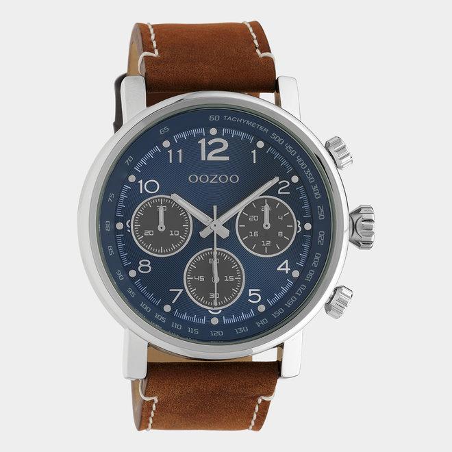 OOZOO Timepieces - unisex - leren band bruin