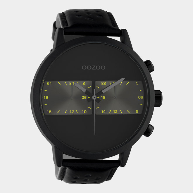 OOZOO Timepieces - unisex - leather strap black