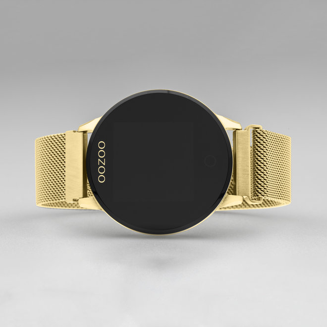 OOZOO Smartwatches - unisex - metal mesh strap gold with gold