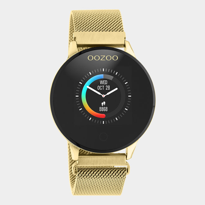 OOZOO Smartwatches - unisex - metal mesh strap gold / gold