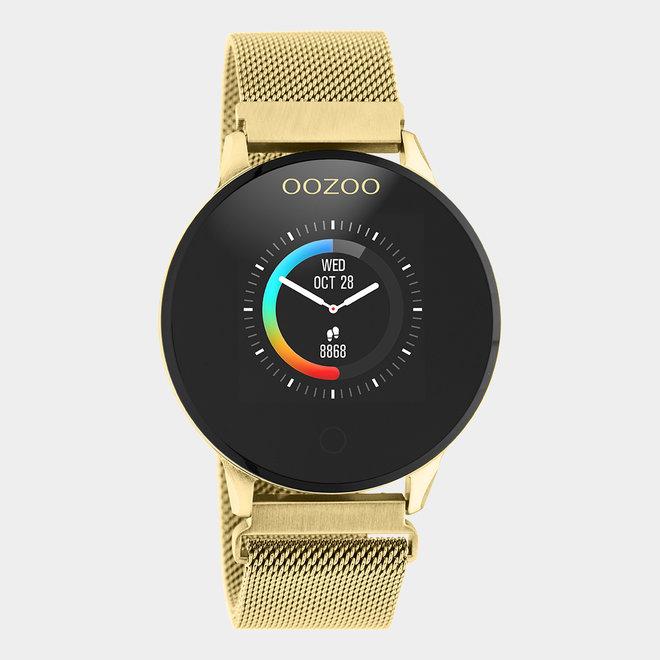 OOZOO Smartwatches - unisex - metalen mesh band gouden / goud