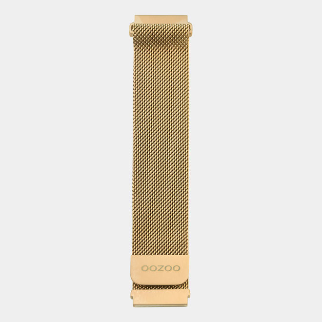 OOZOO Smartwatches - unisex - mesh armband rosé gouden