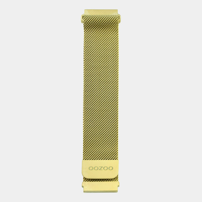 OOZOO Smartwatches - unisex - mesh armband gouden