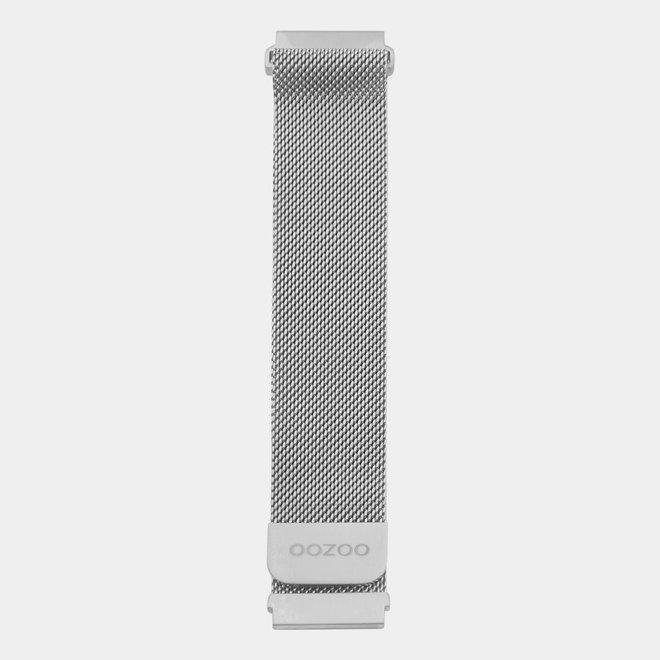 OOZOO Smartwatches - unisexe - bracelet en mesh en argent
