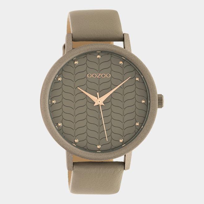 OOZOO Timepieces - femmes - bracelet en cuir taupe