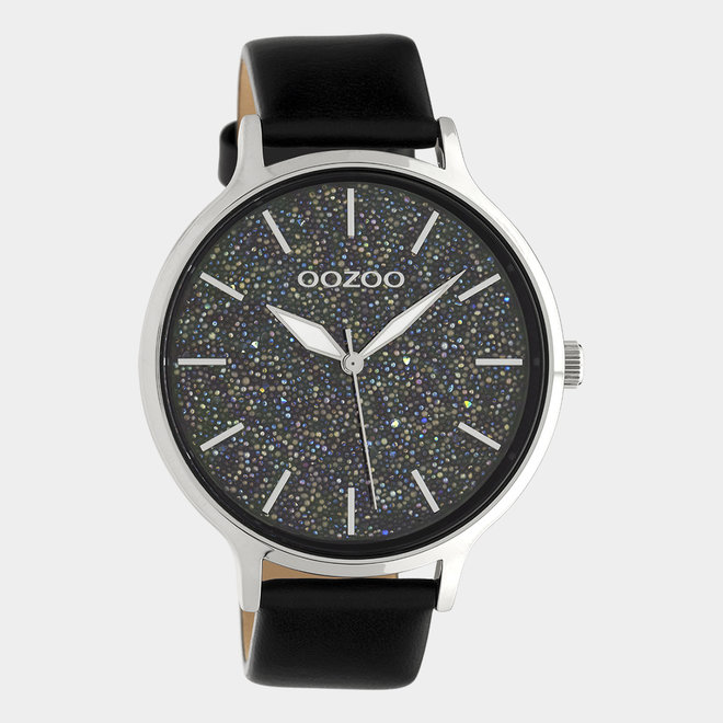 OOZOO Timepieces - femmes - bracelet en cuir noir