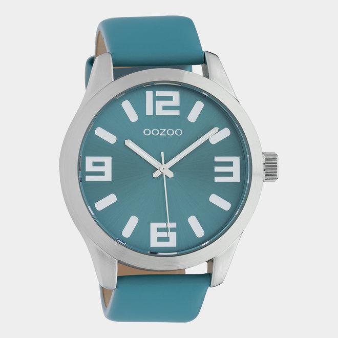 OOZOO Timepieces - unisex - leren band viridian groen