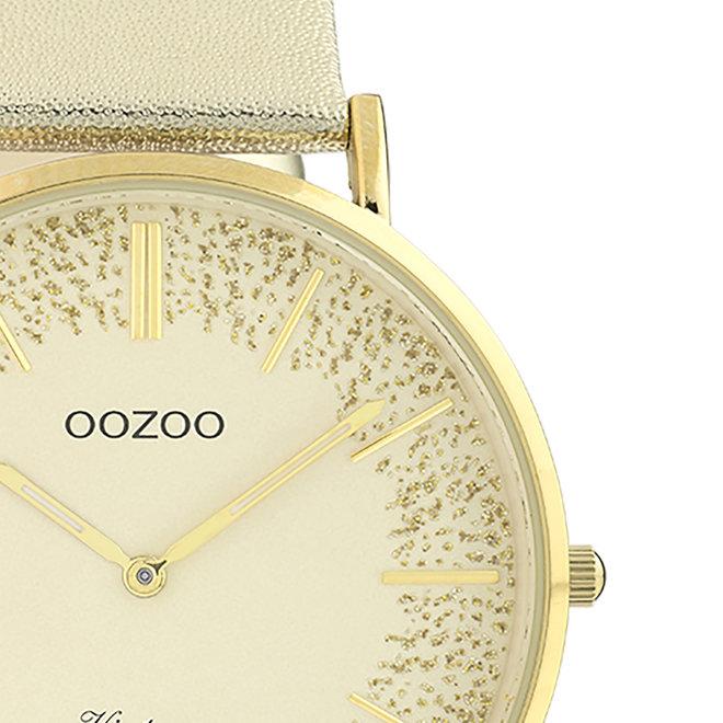 OOZOO Vintage - dames - leren band gouden met goud