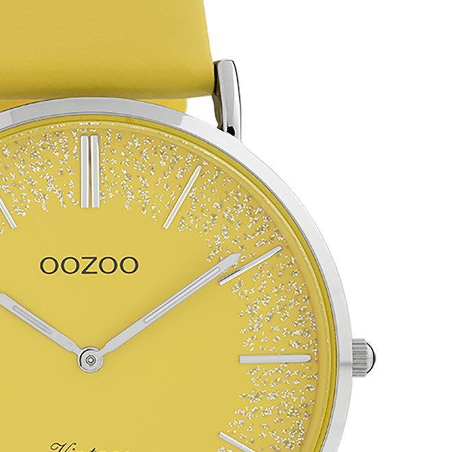 OOZOO Vintage - femmes - en cuir jaune moutarde met argent