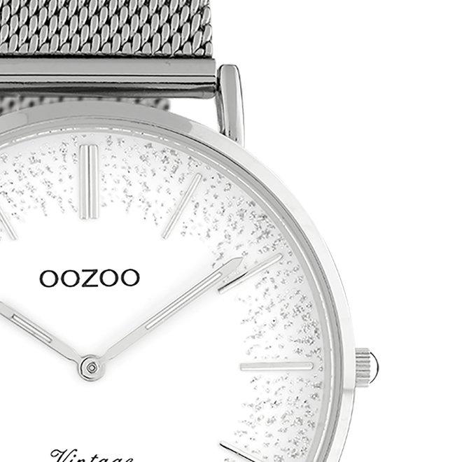 OOZOO Vintage - Ladies - metal mesh strap silver met silver