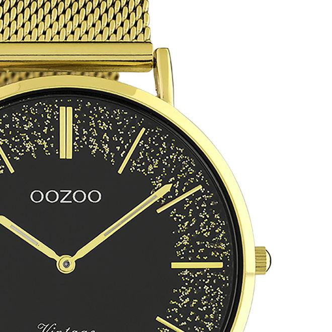 OOZOO Vintage - Ladies - metal mesh strap gold met gold