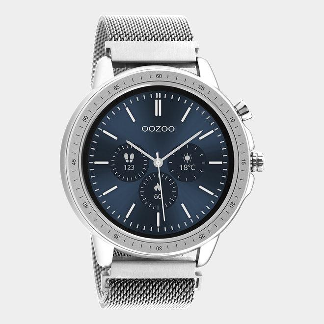 OOZOO Smartwatches - unisexe - bracelet en mesh argent / argent