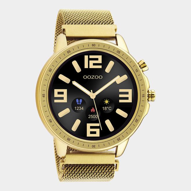 OOZOO Smartwatches - unisex - metalen mesh armband goud / goud