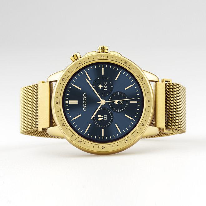 OOZOO Smartwatches - unisexe - bracelet en mesh or avec boîtier or