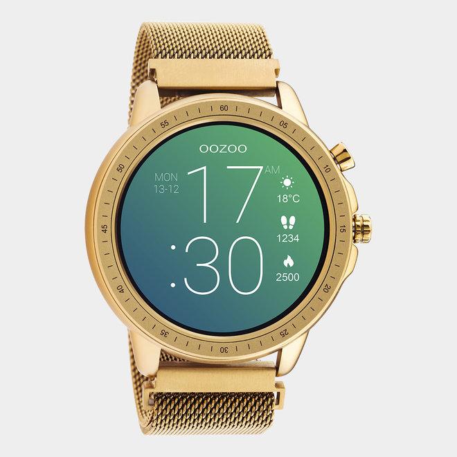 OOZOO Smartwatches - unisex - metalen mesh armband rosé goud / rosé goud