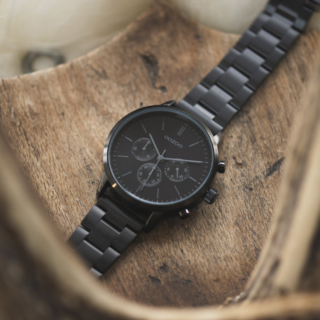 OOZOO Timepieces - unisex - stainless steel bracelet black with black watch case