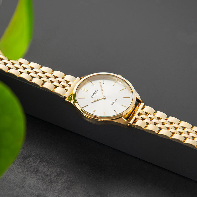 Vintage series - unisexe - bracelet en stainless steel or avec or