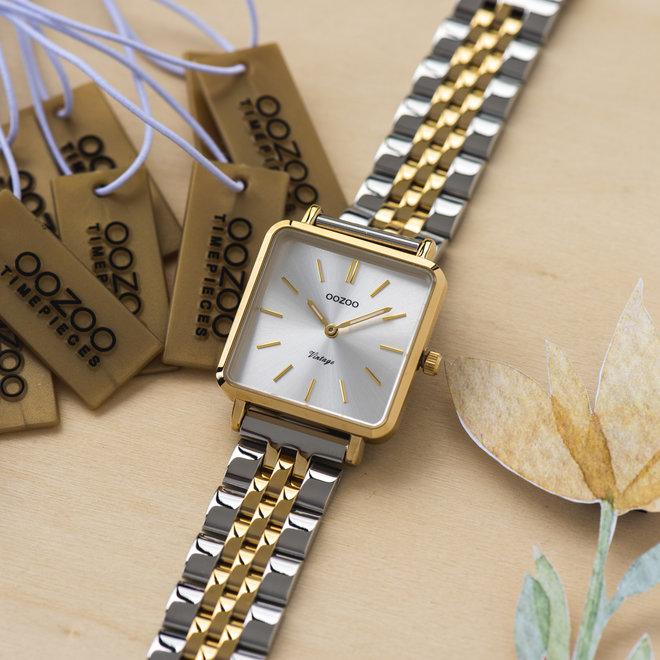 Vintage series - femmes - bracelet en stainless steel argent-or avec or