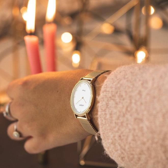 Vintage series - femmes - bracelet en mesh or avec or