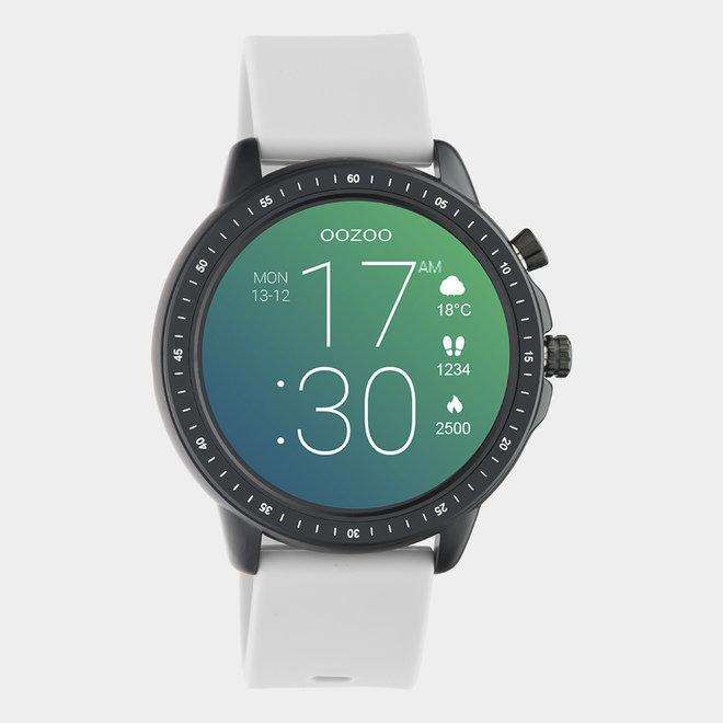 OOZOO Smartwatches - unisex - rubber horlogeband steengrijs / zwart