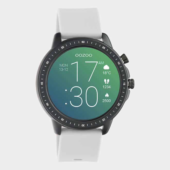 OOZOO Smartwatches - unisexe - bracelet en caoutchouc gris pierre / noir