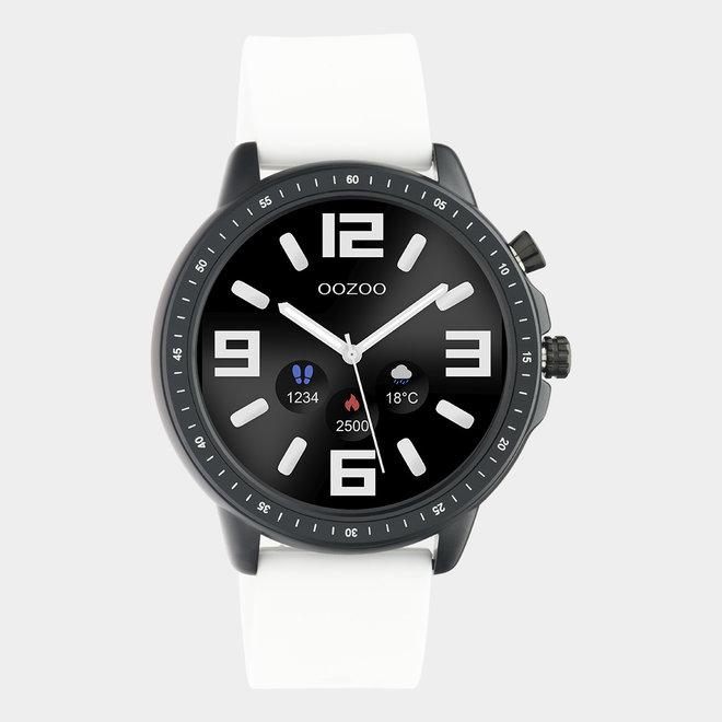 OOZOO Smartwatches - unisexe - bracelet en caoutchouc blanc / noir