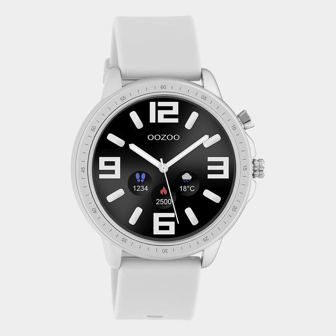 OOZOO Smartwatches - unisex - rubber horlogeband steengrijs / zilver