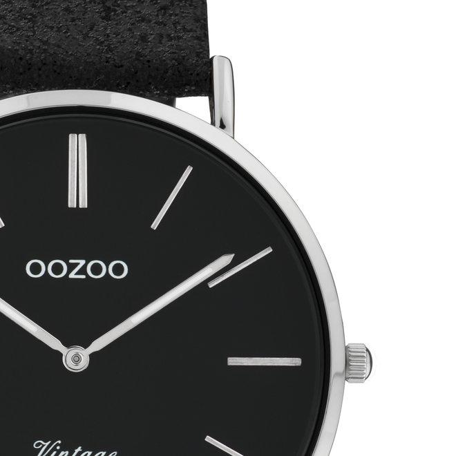 OOZOO Vintage - ladies - leather black with silver