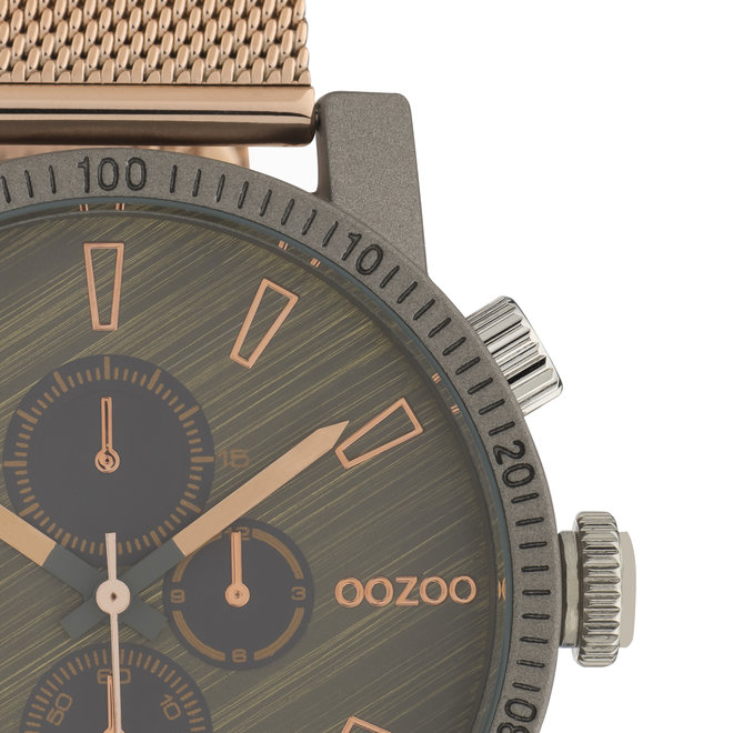 OOZOO Timepieces - unisexe - en mesh or rose