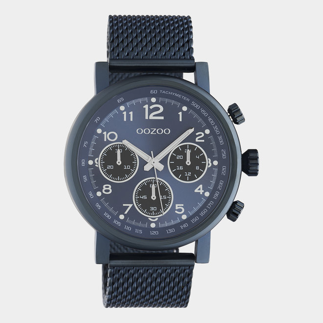 OOZOO Timepieces - unisexe - en mesh bleu / bleu