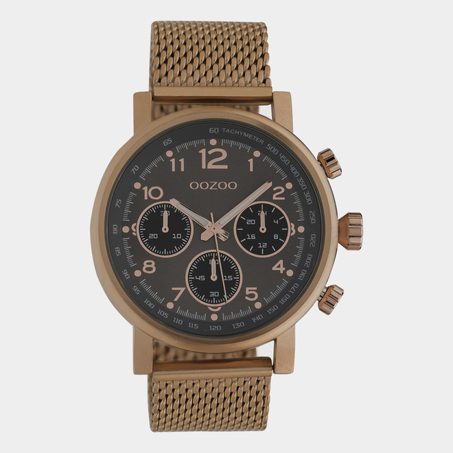 OOZOO Timepieces - unisexe - en mesh marron / marron