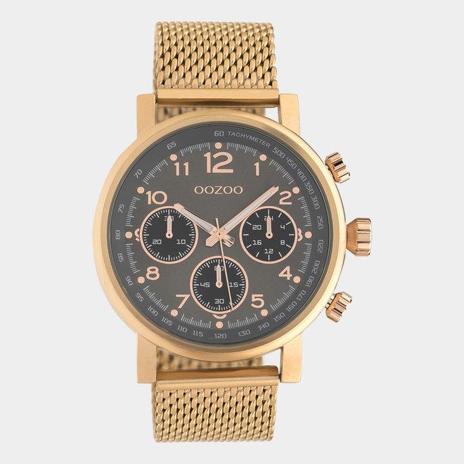 OOZOO Timepieces - unisexe - en mesh or rose / or rose