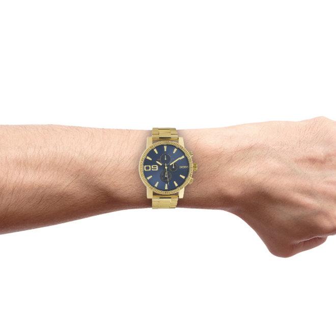 OOZOO Timepieces - unisex - metalen goud met gouden horlogekast