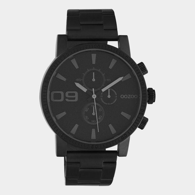 OOZOO Timepieces - unisex - metal bracelet black with black