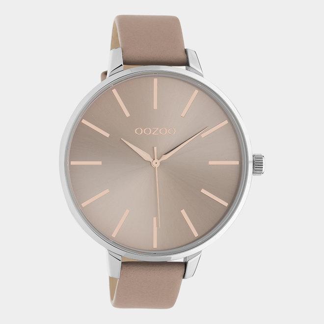 OOZOO Timepieces - femmes - en cuir rose tendre / argent