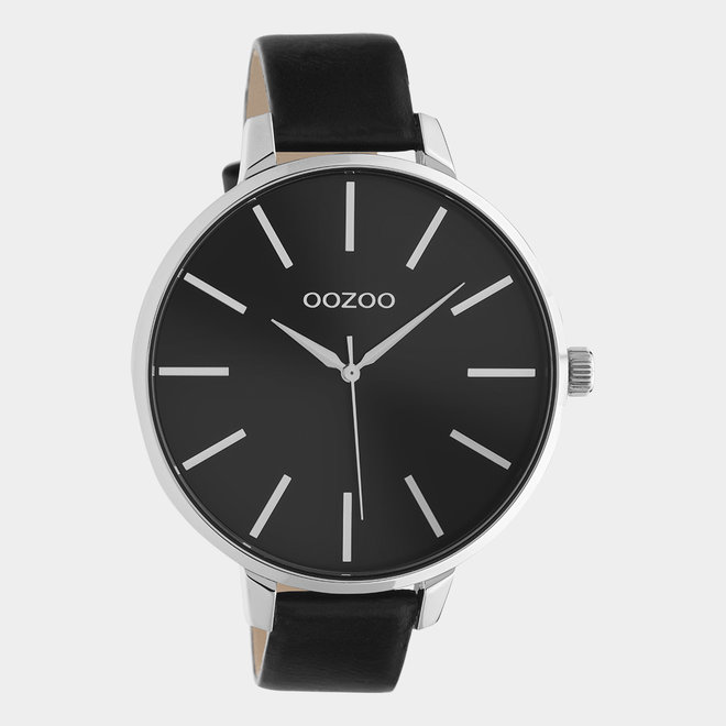 OOZOO Timepieces - ladies - leather black with black