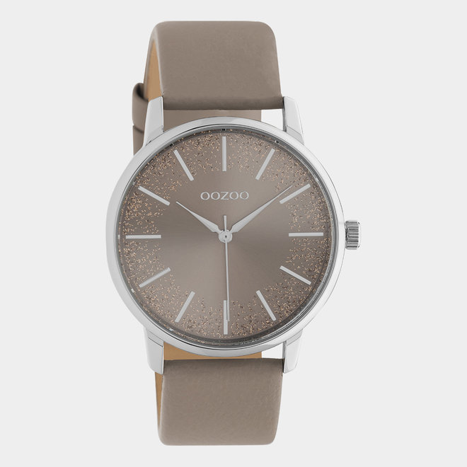 OOZOO Timepieces - ladies - leather taupe / silver