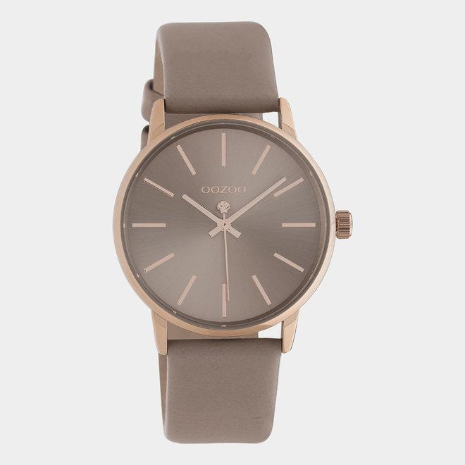 OOZOO Timepieces - ladies - leather pinkgrey / rose gold