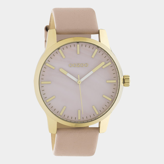OOZOO Timepieces - unisex - leather pinkgrey / gold