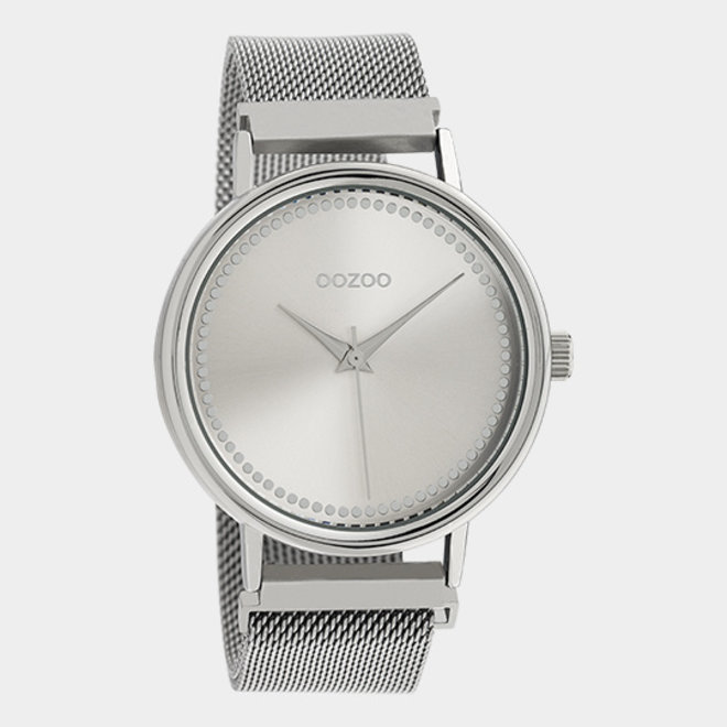 OOZOO Timepieces - unisex - metal mesh silver / silver