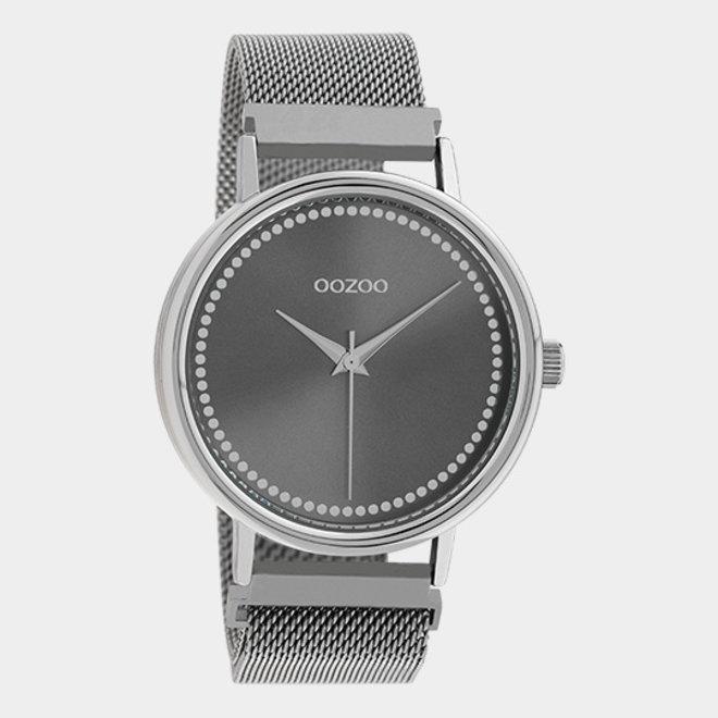 OOZOO Timepieces - unisex - metalen mesh zilver