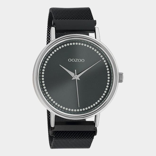 OOZOO Timepieces - unisexe - en mesh noir / argent