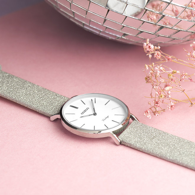 OOZOO Vintage - ladies - leather silver with silver