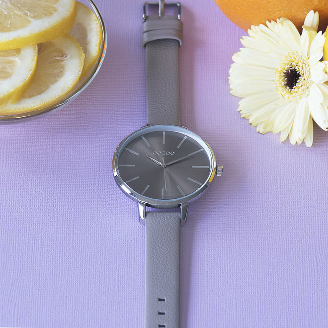 OOZOO Timepieces - femmes - en cuir taupe