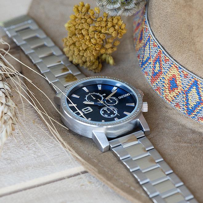 OOZOO Timepieces - unisex - metalen zilver met zilveren horlogekast